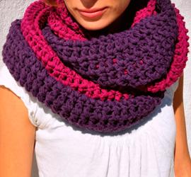 Cómo hacer bufandas de lana  115f3e8fac0